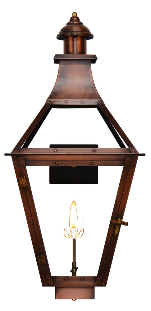 The Coppersmith Creole Outdoor Lighting 26 H Natural Gas Wall Mount Lan