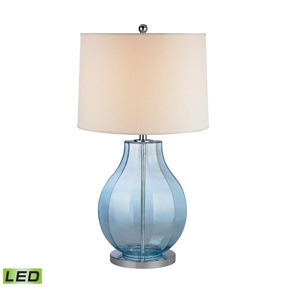 Elk Sea Glass Lamps 17x17x29 / D2631-LED / White / Linen