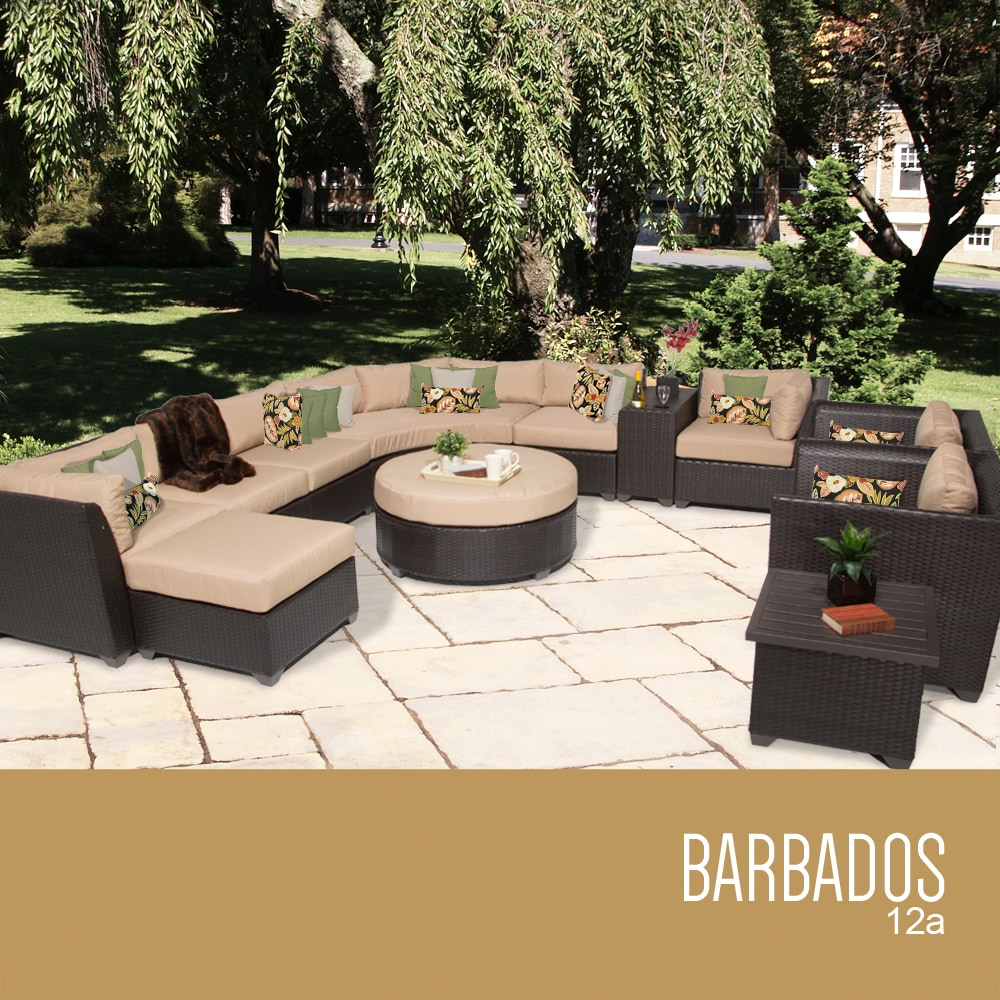 TK Classics Barbados Collection Outdoor Wicker Patio