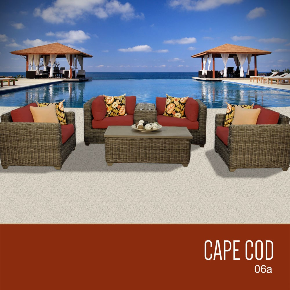 Tk Classics Cape Cod Collection Outdoor Wicker Patio