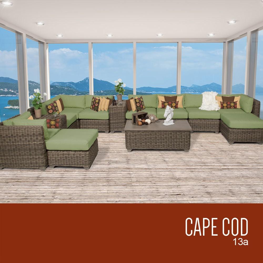 TK Classics Cape Cod Collection Outdoor Wicker Patio