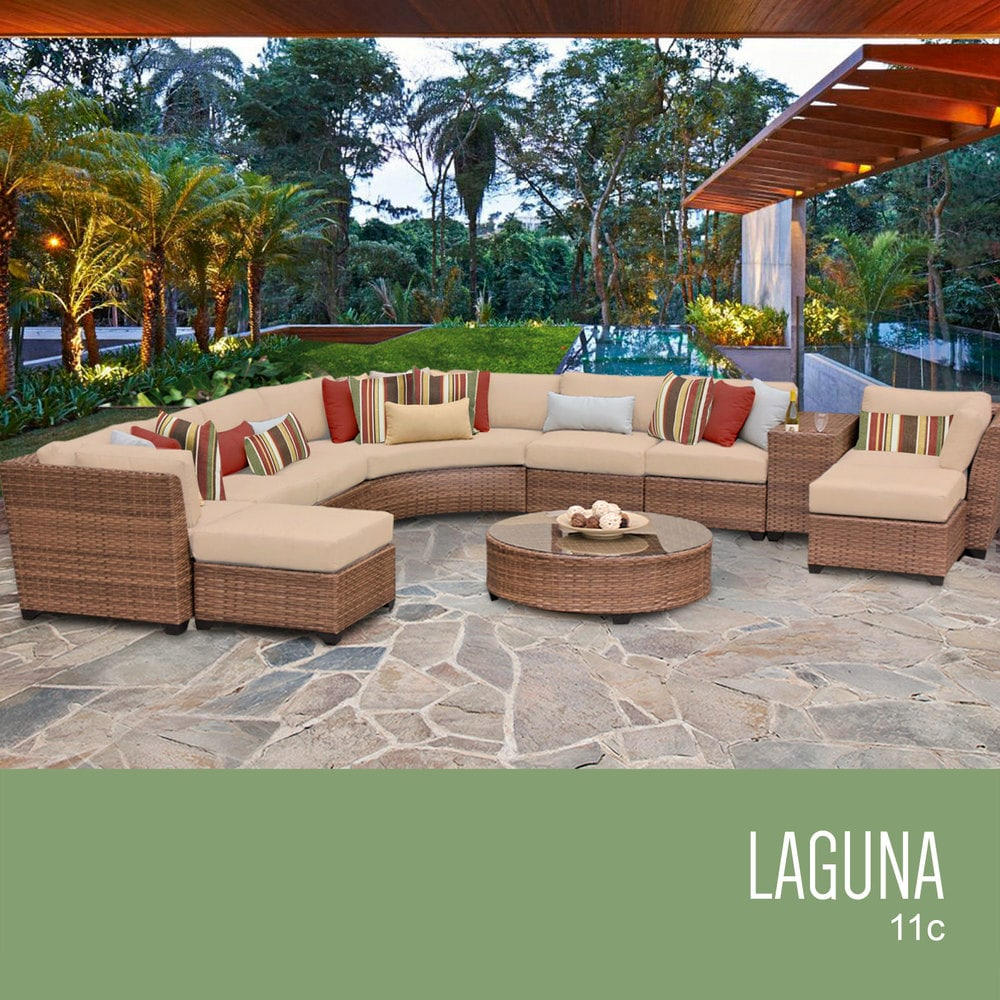 TK Classics Laguna Collection Outdoor Wicker Patio