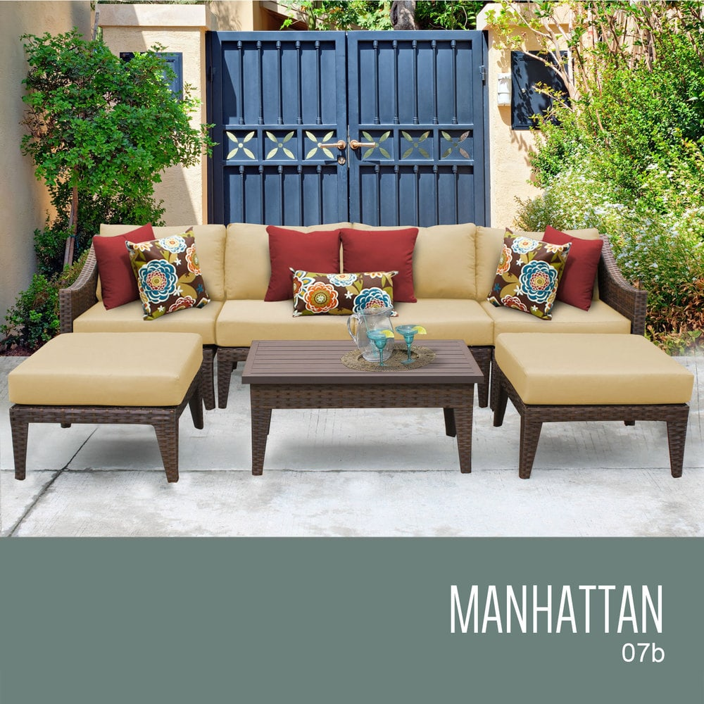 TK Classics Manhattan Collection Outdoor Wicker Patio