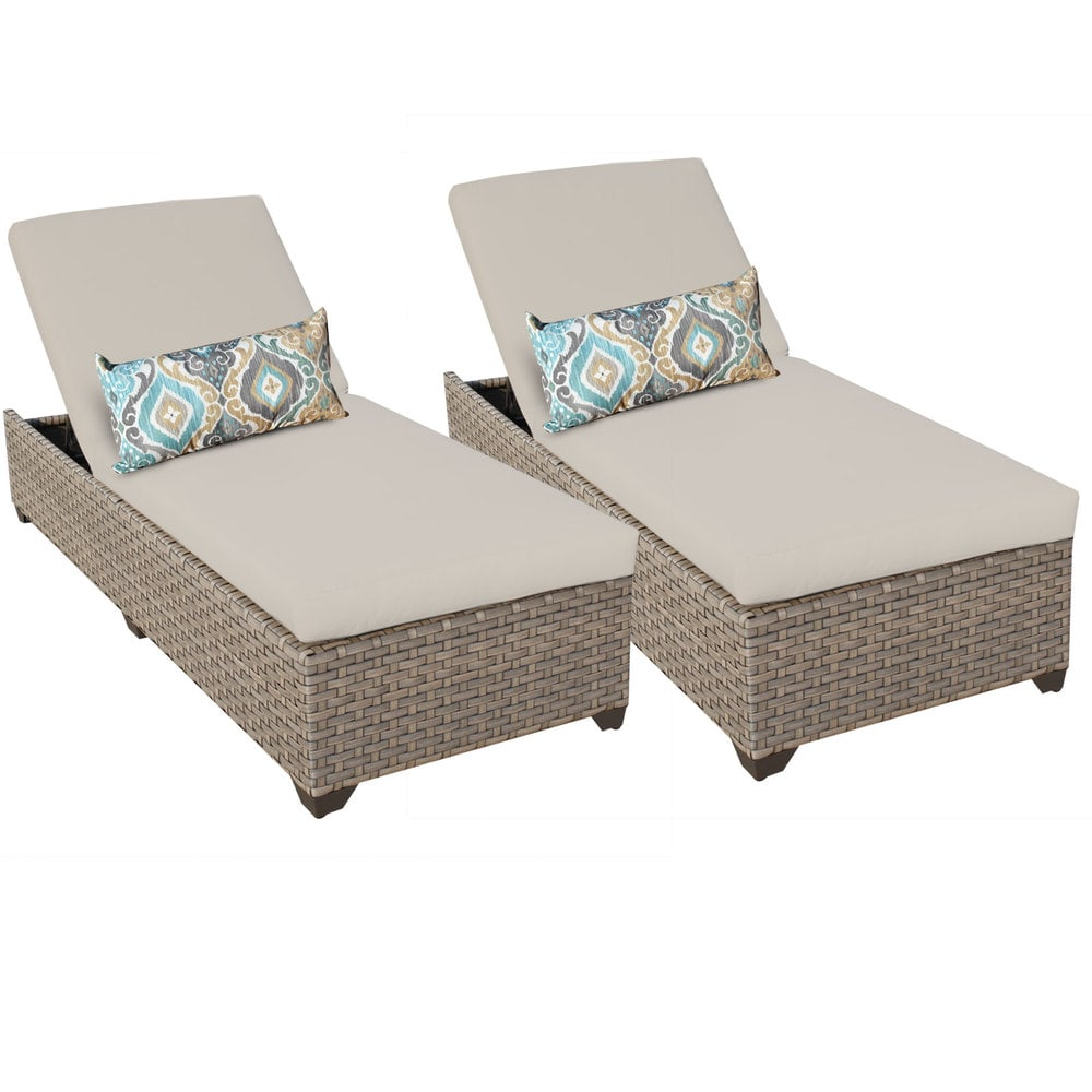 TK Classics Monterey Collection Chaise Set of 2 Outdoor