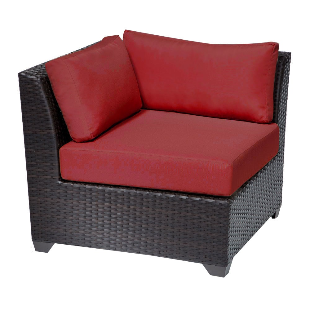 Tk Classics Barbados Collection Corner Sofa 2 Piece Terracotta