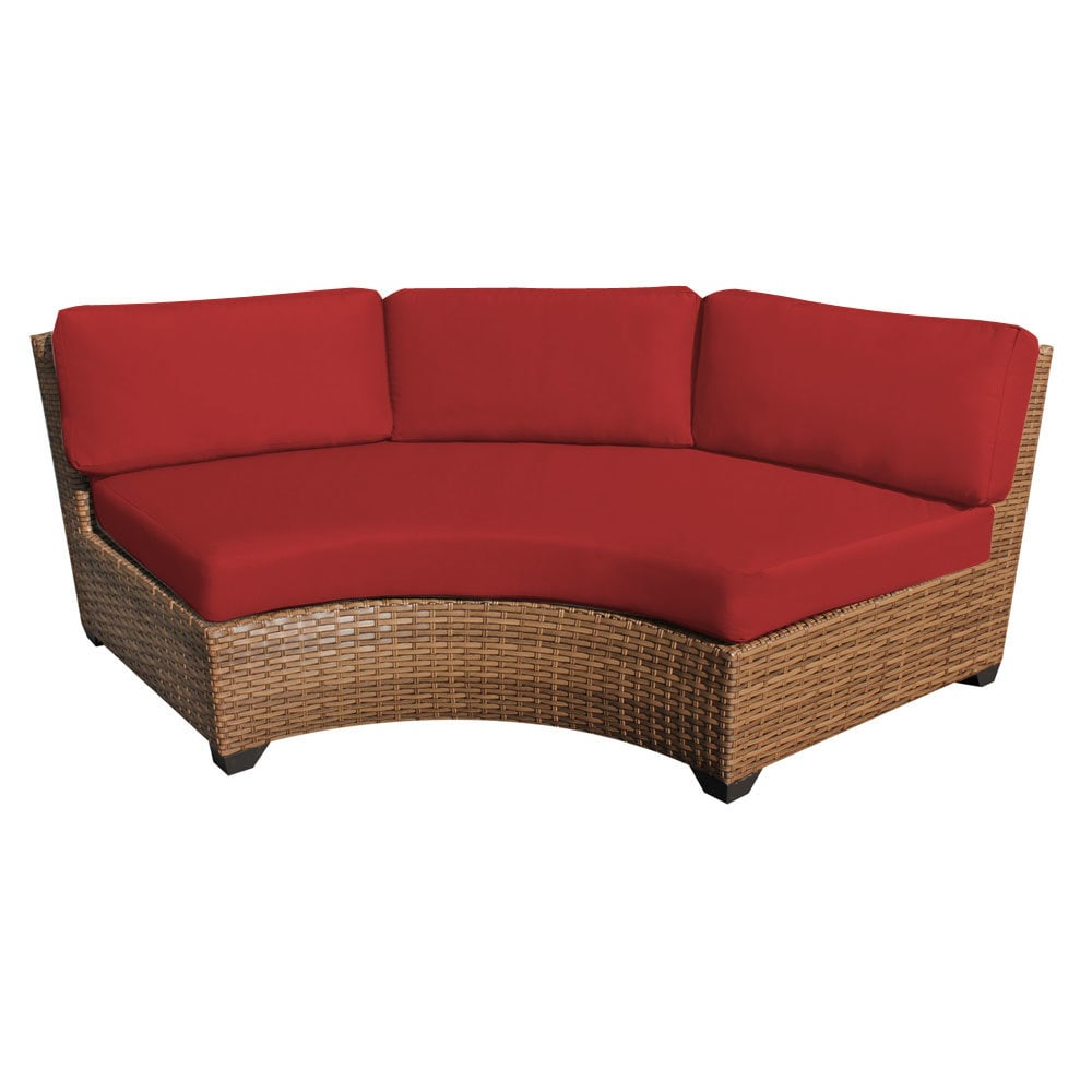 Tk Classics Laguna Collection Curved Armless Sofa 2 Per Box 2 Piece Terracotta