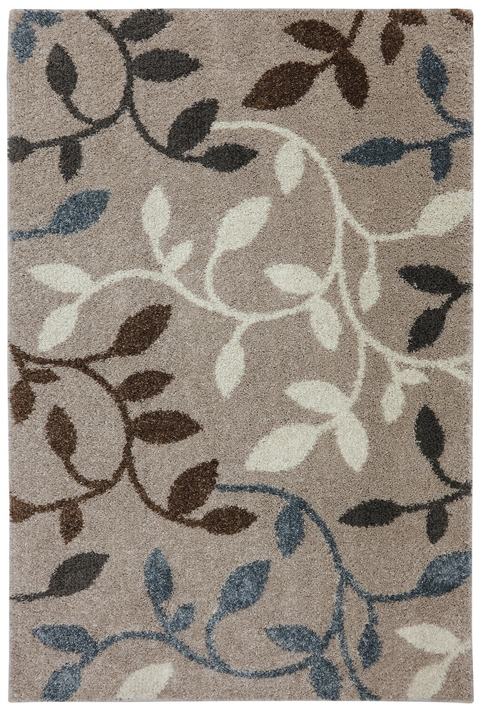 Mohawk Home Area Rugs Huxley Leaf Vines Oyster 5 3x7