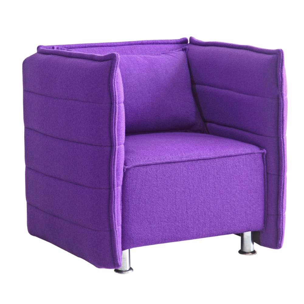 Fine Mod Imports Sofata Chair Accent Chair Purple