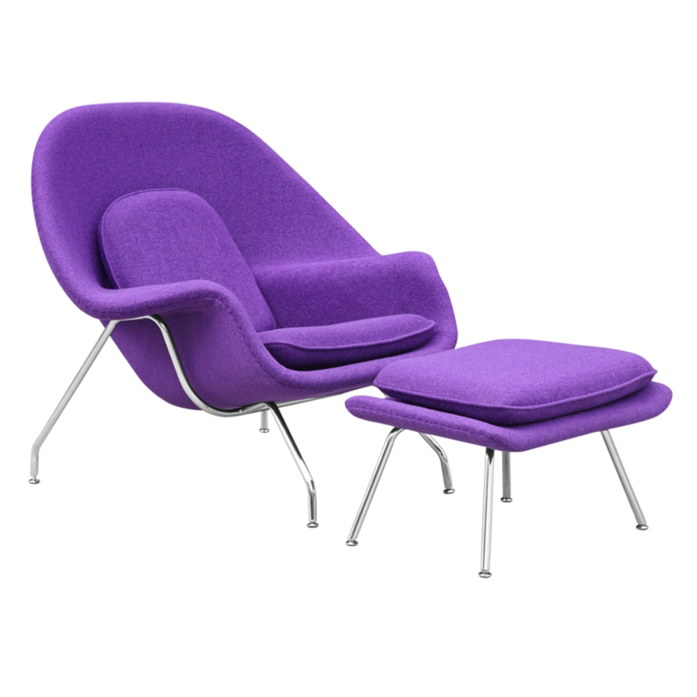 Fine Mod Imports Woom Chair And Ottoman Accent Chair