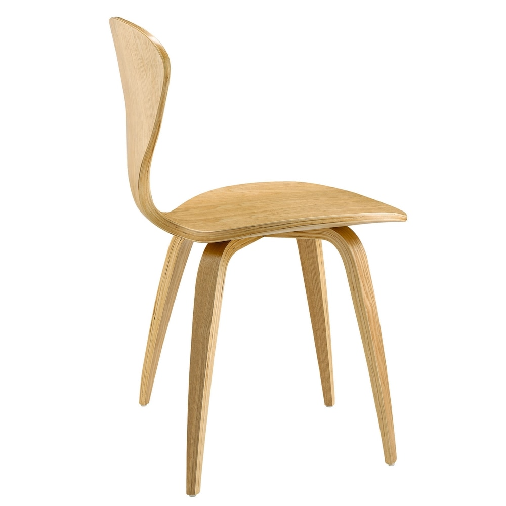 Fine mod imports fine mod imports wooden side chair for Natural wood dining chairs