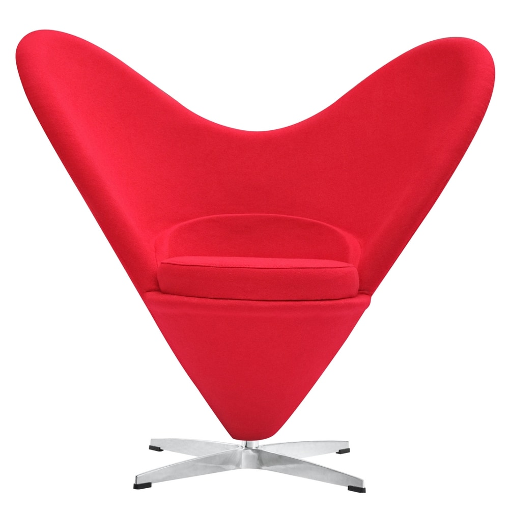 Fine Mod Imports Heart Chair Red lounge chair Red
