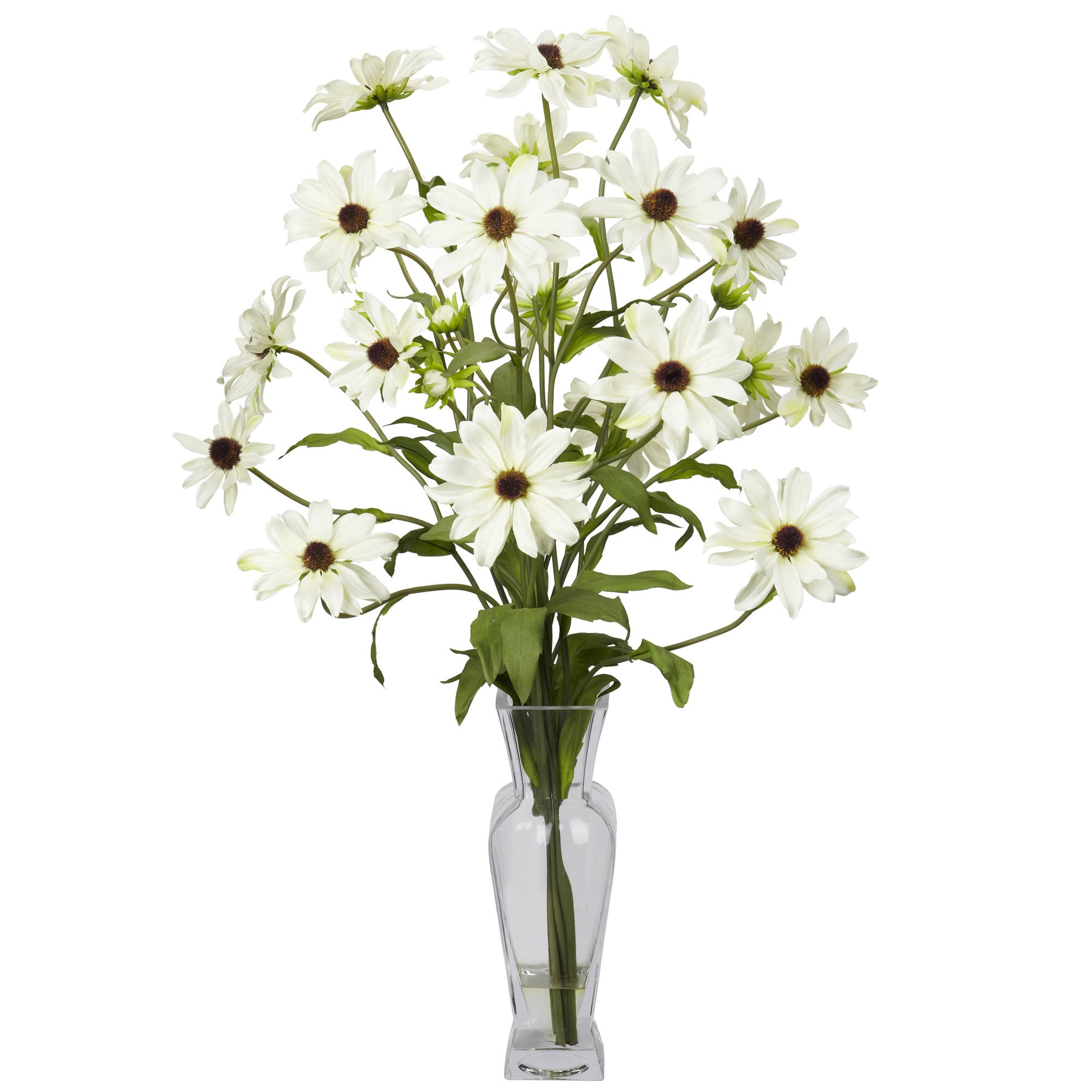 Nearly Natural - Cosmos w/Vase Silk Flower Arrangement 151822381