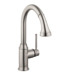 Hansgrohe Optik Talis C 2 Spray HighArc Pull Down Kitchen Faucet Model 151066151 Kitchen Faucets