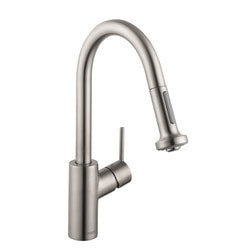 Hansgrohe Optik Talis S Pull Down Prep Kitchen Faucet With Magnetic Docking Model 151066571 Kitchen Faucets