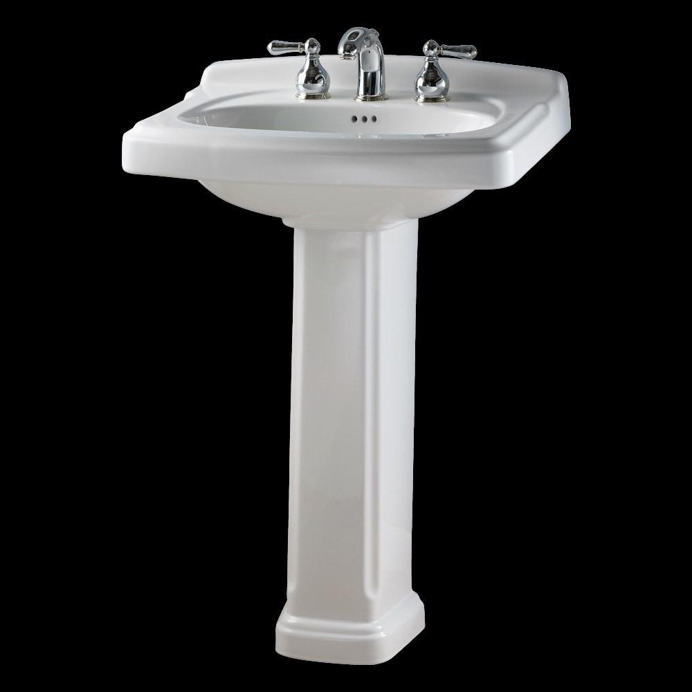 American Standard Portsmouth Pedestal W 4 Quot Faucet Centers