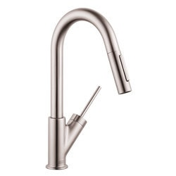 Hansgrohe Optik Axor Starck 2 Spray Pull Down Kitchen Prep Faucet Model 151066391 Kitchen Faucets