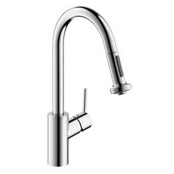 Hansgrohe Talis S 2 Spray HighArc Pull Down Kitchen Faucet Model 151066401 Kitchen Faucets