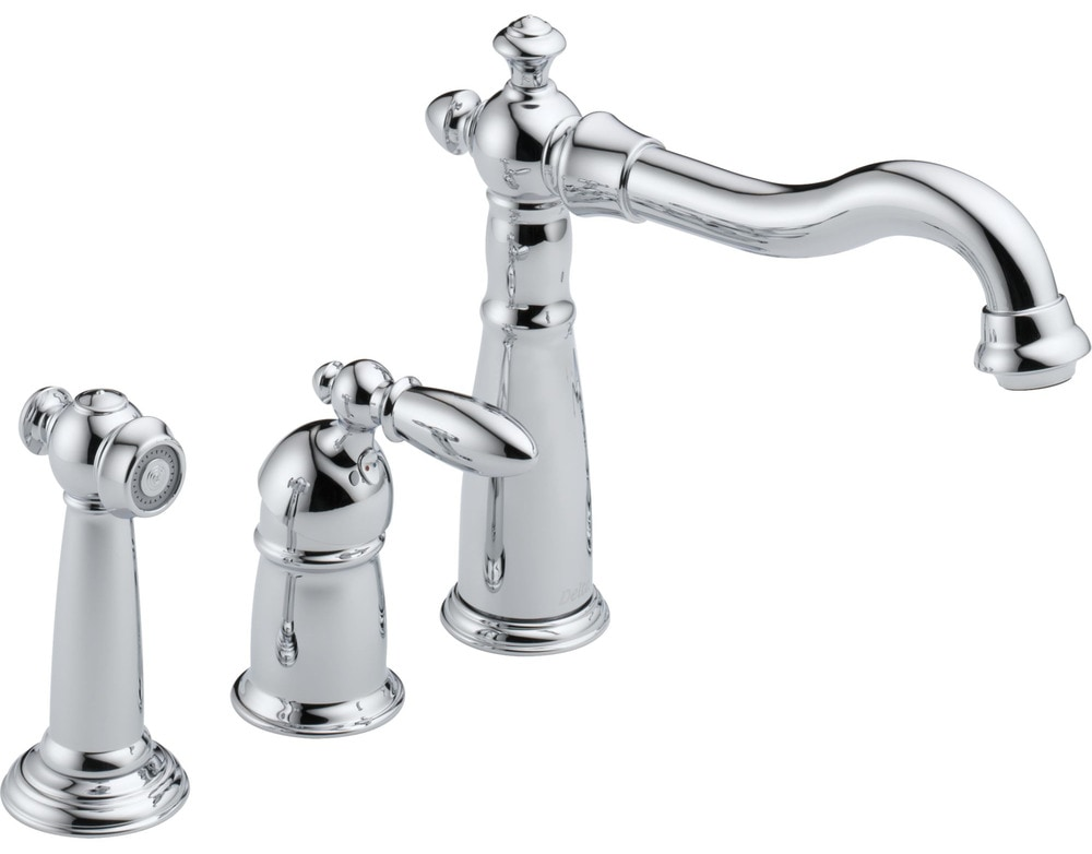 Victorian Delta  Handle Kitchen Faucet With Side Spray
