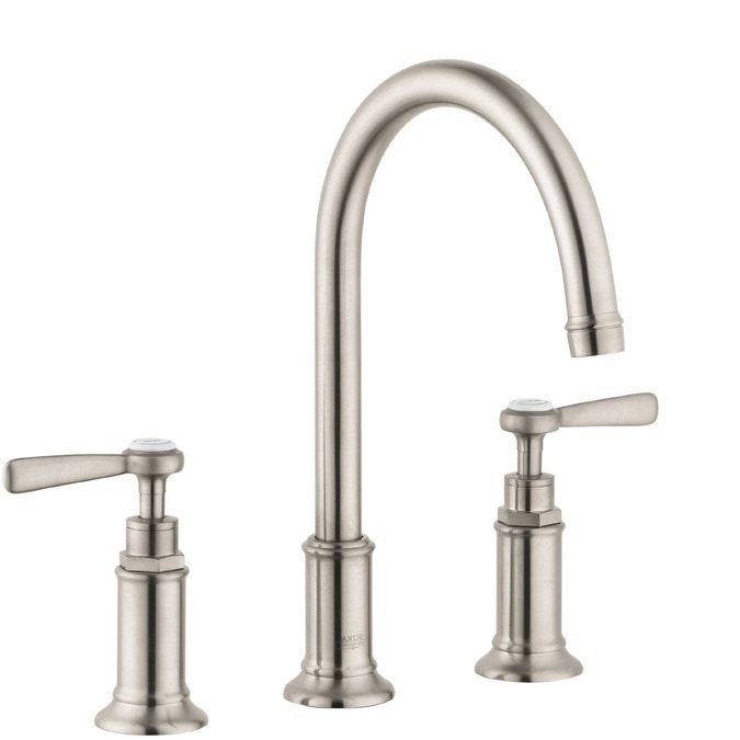 Hansgrohe Axor Montreux Widespread With Lever Handles And Pop Up Assembly Bathroom Faucet