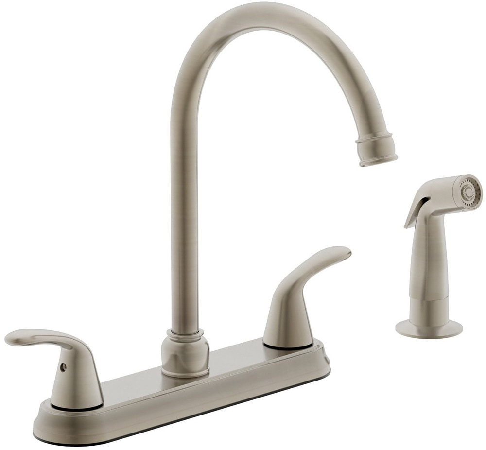 Estora taviano two handle kitchen faucet with side spray for Kitchen faucet recommendations