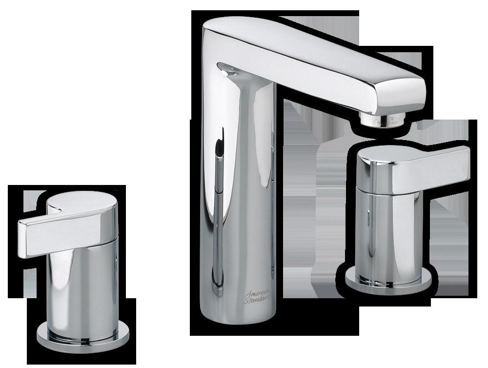 Shop Galaxy 4 Light Barclay Brushed Nickel Standard: American Standard Two-Handle High Arc Widespread Bathroom