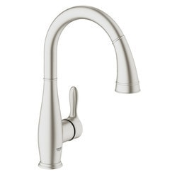 Grohe Supersteel Parkfield Pullout Spray Kitchen Faucet With Dual Spray Model 151065621 Kitchen Faucets