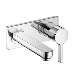 Hansgrohe Metris S Wall Mounted Single Handle Without Valve Model 150774711 Bathroom Faucets