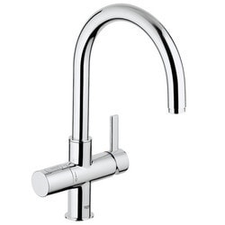 Grohe Blue Pure Kitchen Faucet Starter Kit Silk Move & Ceramic Cartridge Model 151065391 Kitchen Faucets