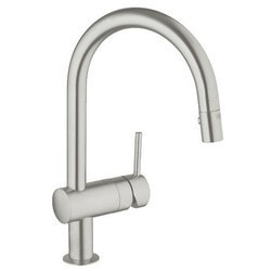 Grohe Supersteel Minta Pull Down Single Lever Kitchen Sink Mixer Model 151065671 Kitchen Faucets