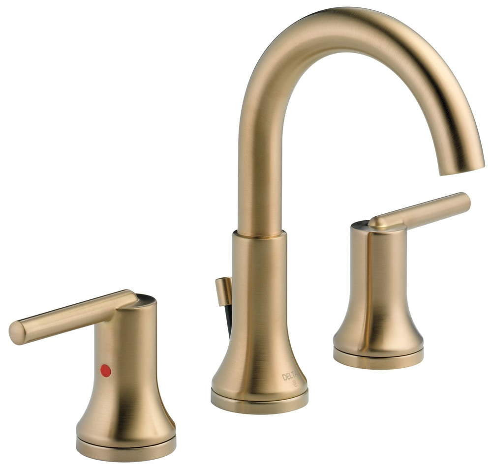 Delta Trinsic Widespread With Metal Pop Up Bathroom Faucet Champagne Bronze 3559 Czmpu Dst