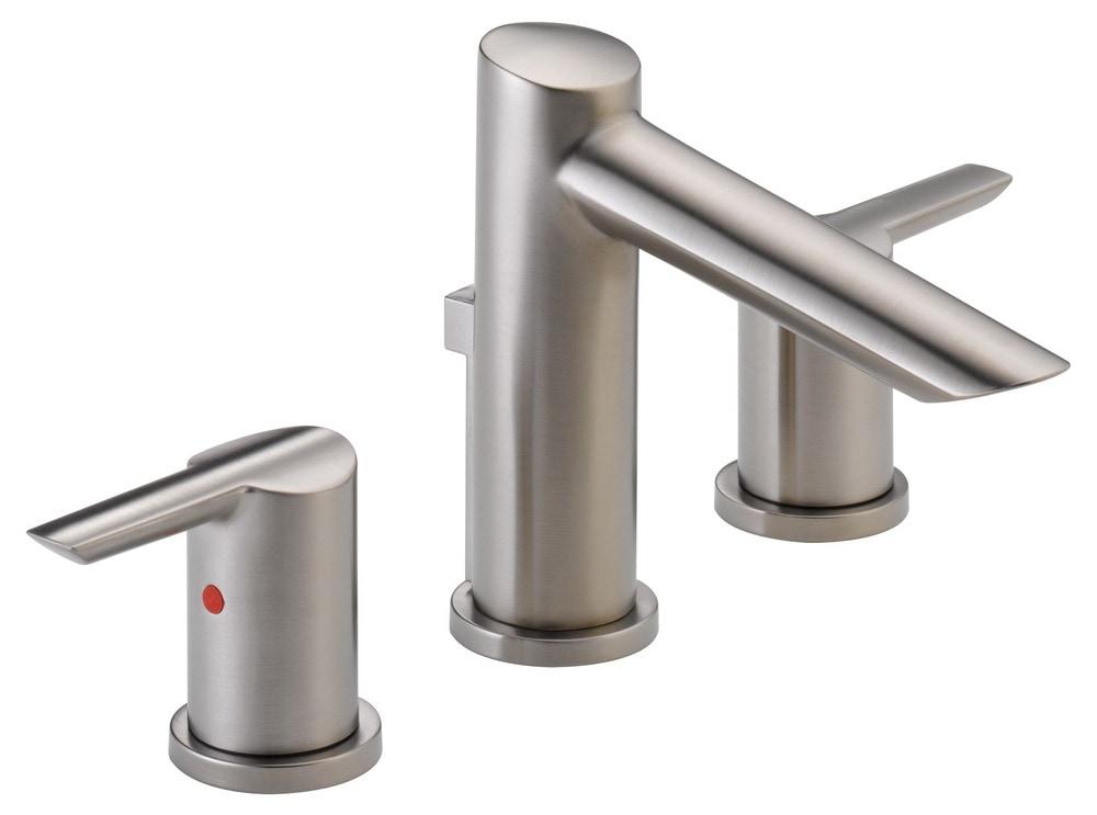 Delta Compel Widespread With Metal Pop Up Bathroom Faucet