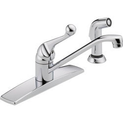 handle faucet with side spray type 150803851 kitchen faucets in canada