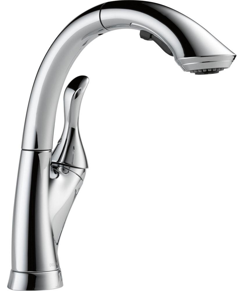 Delta linden single-handle kitchen faucet in chrome