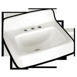 "American Standard Regalyn Wall Mounted Cast Iron Lavatory Sink w/4"" Centers Type 150823361 Kitchen Sinks in Canada"