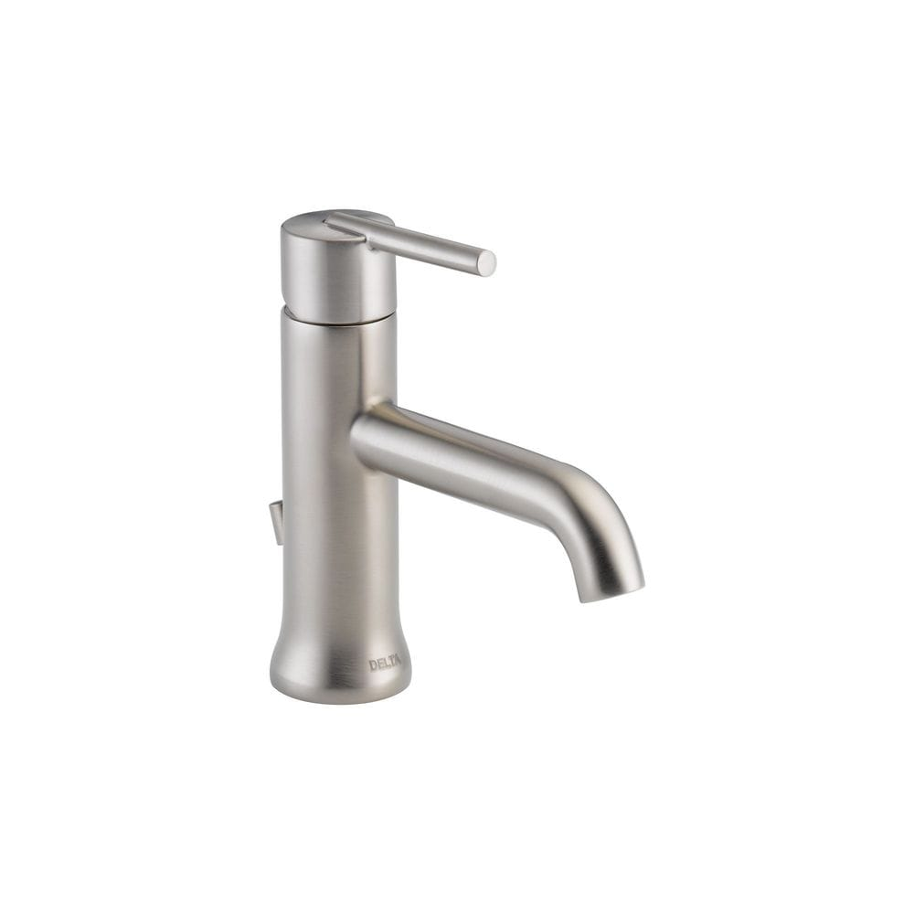 delta trinsic single handle with diamond seal valve and metal pop up drain bathroom faucet