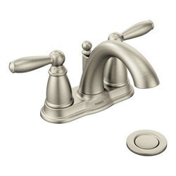 Moen Brantford Double Handle Low Arc Model 150775651 Bathroom Faucets
