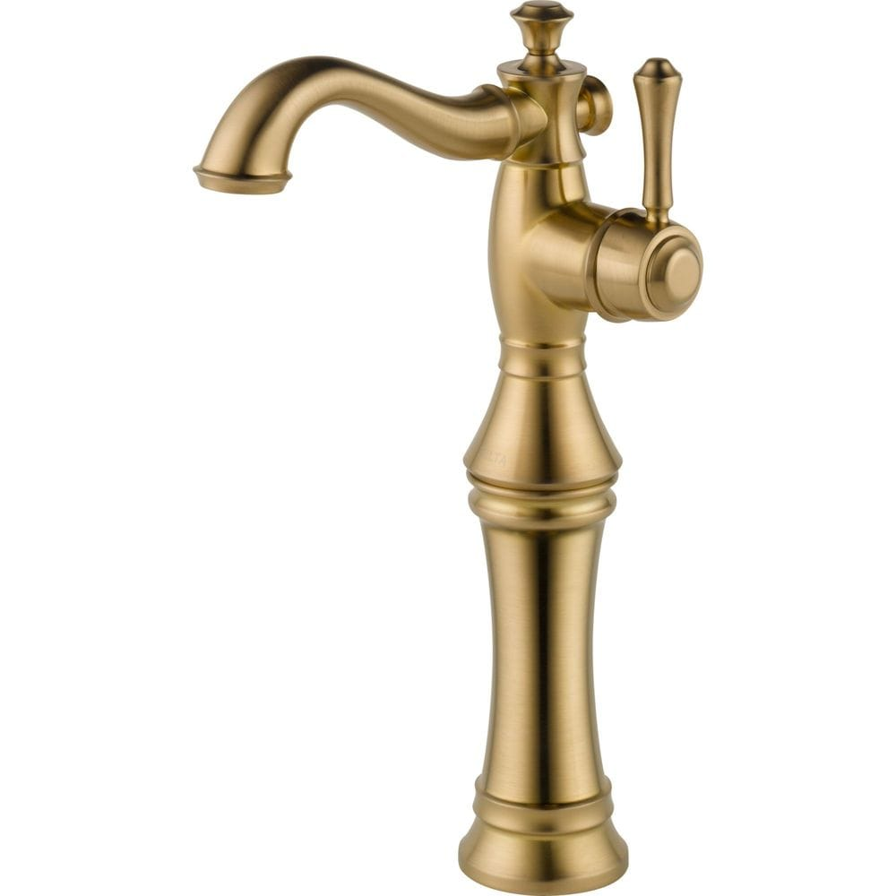 Delta Cassidy Single Hole With Riser Less Pop Up Bathroom Faucet Champagne Bronze 797lf Cz