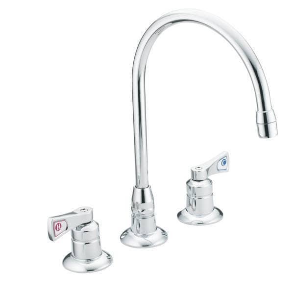 Moen m dura commercial deck mounted kitchen faucet for Kitchen faucet recommendations