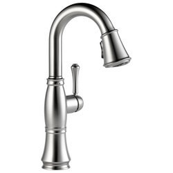 Delta Cassidy Single Handle Bar/Prep Pull Down Faucet With Seal Type 150804641 Kitchen Faucets in Canada