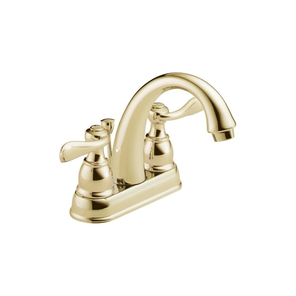 Delta Windemere Double Handle 4 Centerset With Washerless Cartridge Valve Bathroom Faucet