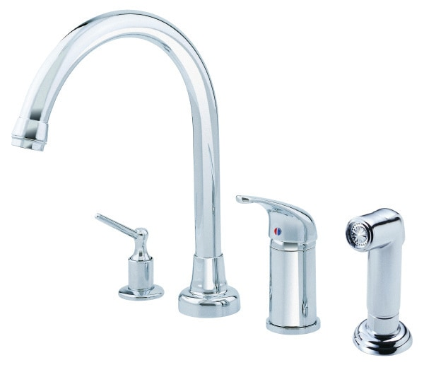 Danze melrose kitchen faucet with side spray and soap for Kitchen faucet recommendations