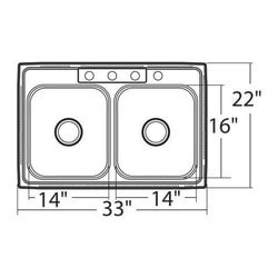 Moen 2000 Double Basin Drop In w/SoundSHIELD Model 150830971 Kitchen Sinks