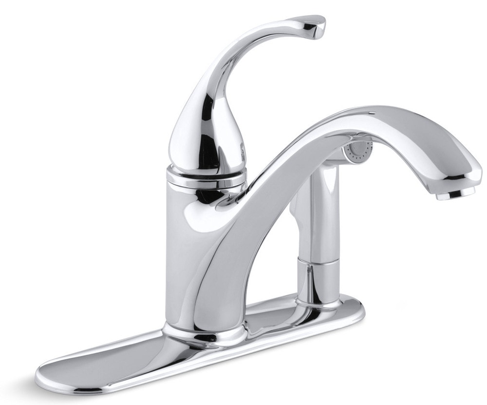 7 Faucet Finishes For Fabulous Bathrooms: Kohler Forte® Single Handle Pullout With Sidespray Kitchen