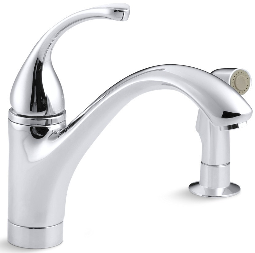 Kohler forte single handle with side spray kitchen faucet for Kitchen faucet recommendations