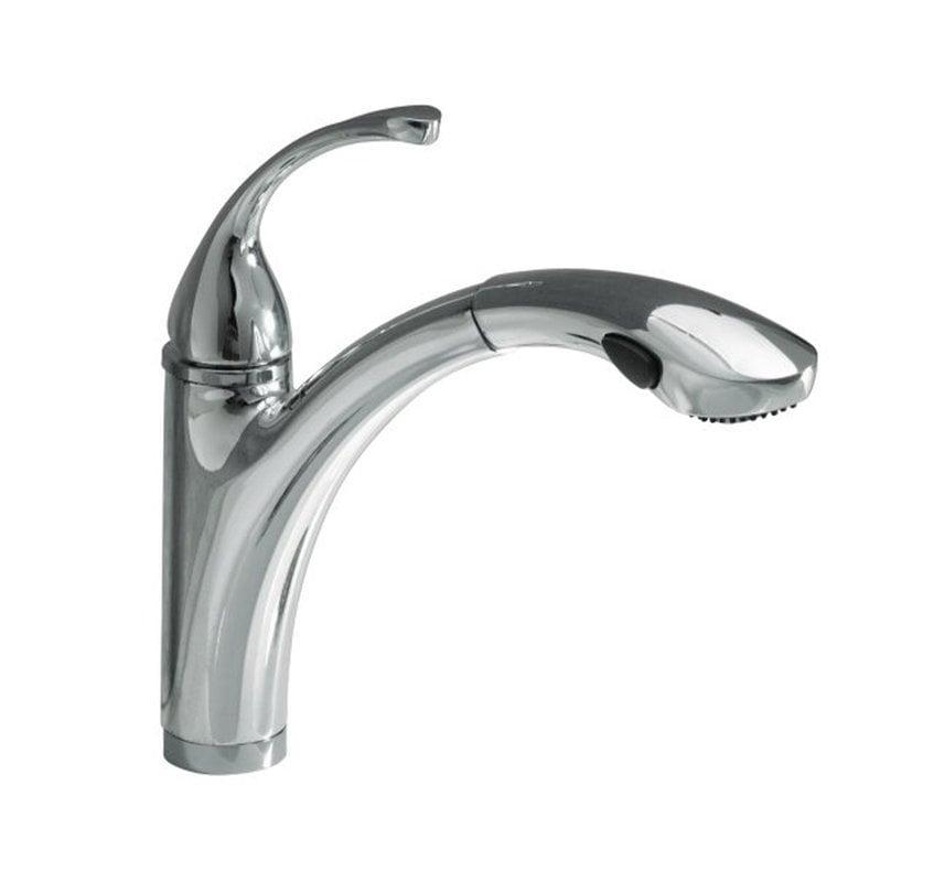 Kohler Faucet K 10433 G Forte Brushed Chrome Pullout Spray: Kohler Forte® Pullout Kitchen Sink With MasterClean