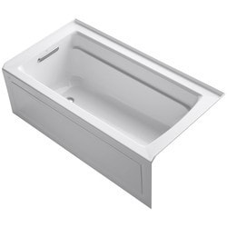 "Kohler Archer 60""X32""X19"" Three Wall Alcove Soaking Tub With ComfortDepth Model 150796301 Bathtubs"