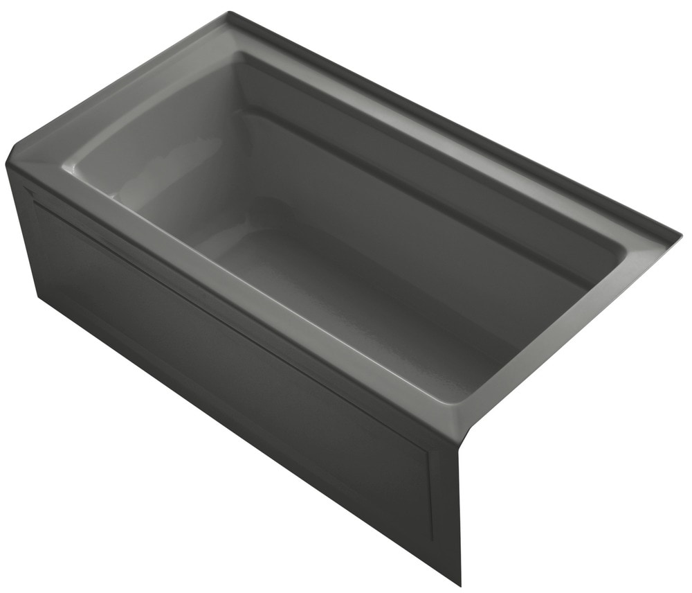 Kohler archer 60 x32 x19 three wall alcove soaking tub for Deep alcove bathtubs