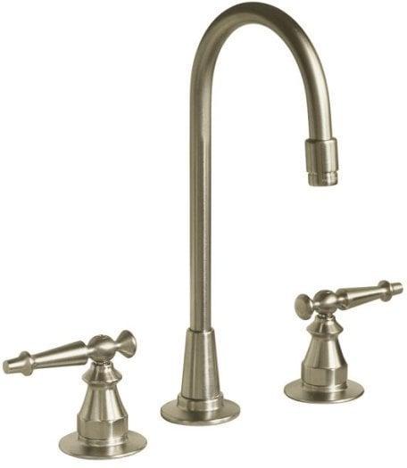 Kohler Antique® Double Handle Bar Faucet With Ceramic Disc Valve Bar Faucet / Brushed Nickel / K