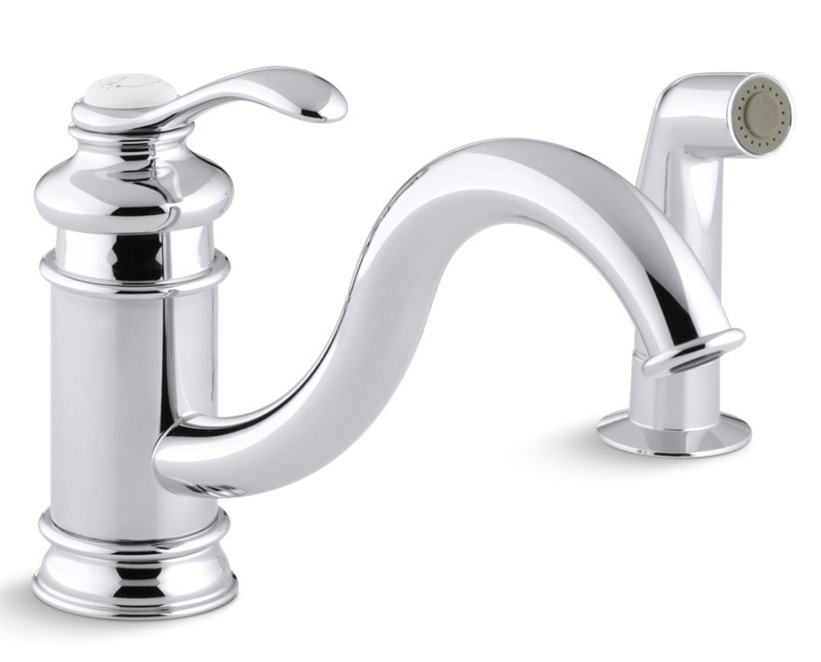 Kohler Fairfax Single Handle With Sidespray Kitchen Faucet Polished Chrome K 12176 Cp