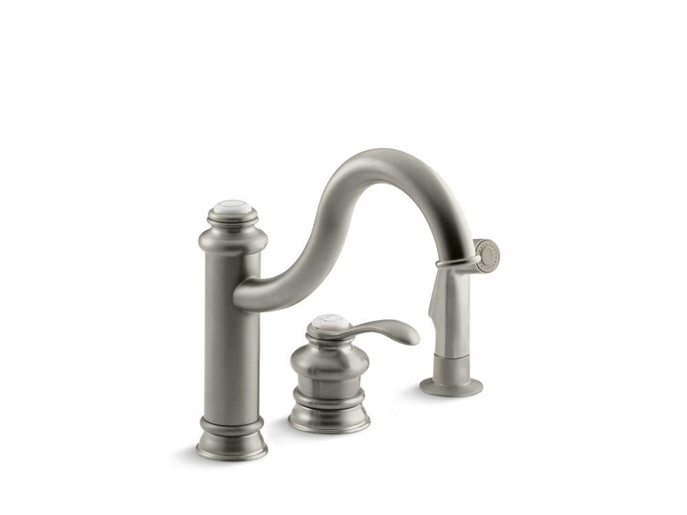 Kohler Fairfax Single Handle With Side Spray Kitchen Faucet Brushed Nickel K 12185 Bn